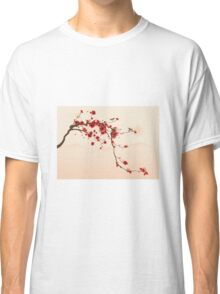 Whimsical Red Cherry Blossom Tree Classic T-Shirt