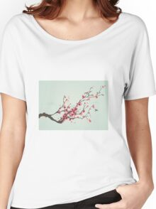Whimsical Pink Cherry Blossom Tree Women's Relaxed Fit T-Shirt