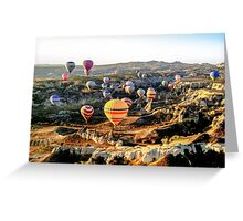 Hot Air Balloons - Cappadocia, Turkey Greeting Card