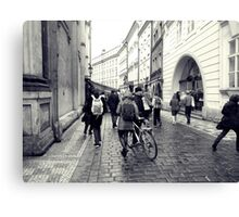 Daily life in Prague Canvas Print
