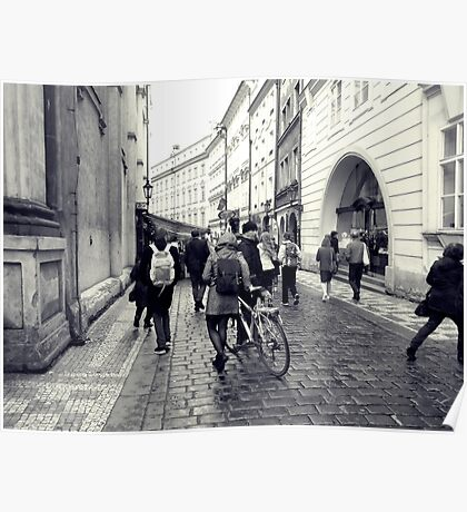 Daily life in Prague Poster