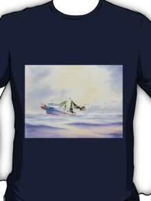 Shrimp Boat With The Catch T-Shirt
