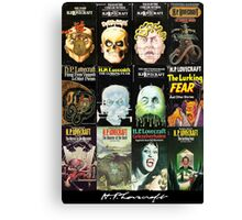 H P Lovecraft Covers Canvas Print