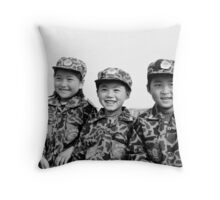 Child Soldiers Throw Pillow