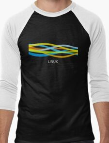 Linux Rainbow Men's Baseball ¾ T-Shirt