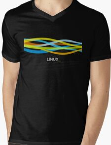 Linux Rainbow Mens V-Neck T-Shirt