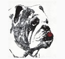Bulldog Pop Art - How Bout A Kiss 2 - By Sharon Cummings Kids Clothes