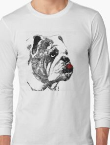 Bulldog Pop Art - How Bout A Kiss 2 - By Sharon Cummings T-Shirt