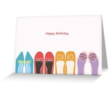 Stylish Shoes - Birthday Card Greeting Card