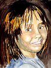 Sarah - A Watercolour Portrait by Jim Phillips