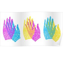 Rainbow Hands Applause Poster