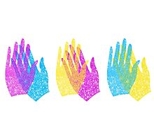 Rainbow Hands Applause Photographic Print