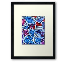 Mosaic Blue Framed Print