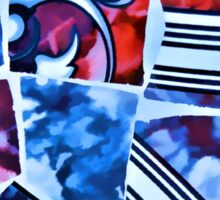 Mosaic Blue Sticker