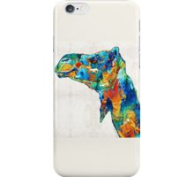 Colorful Camel Art by Sharon Cummings iPhone Case/Skin