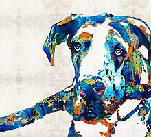 Great Dane Art - Stick With Me - By Sharon Cummings by Sharon Cummings