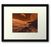 Martian Terrain Framed Print