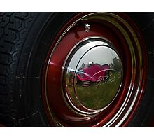 Hub Cap Reflections Photographic Print