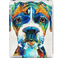Colorful Boxer Dog Art By Sharon Cummings  iPad Case/Skin