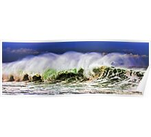 Ocean Power Wave Poster