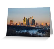 International Business Center Moscow-City Greeting Card