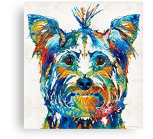 Colorful Yorkie Dog Art - Yorkshire Terrier - By Sharon Cummings Canvas Print