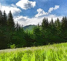 Impressions of Mountains and Meadows and Trees by Georgia Mizuleva