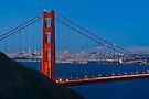 San Francisco through the Golden Gate Bridge by Zane Paxton