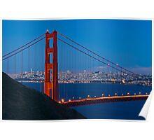 San Francisco through the Golden Gate Bridge Poster