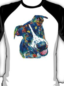 Colorful Dog Art - Happy Go Lucky - By Sharon Cummings T-Shirt