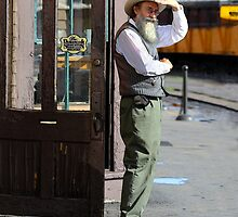 Waiting for the Durango Silverton Train by Catherine Sherman