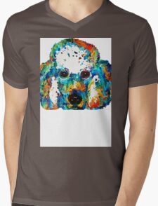 Colorful Poodle Dog Art by Sharon Cummings Mens V-Neck T-Shirt
