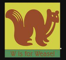 Weasel Animal Alphabet One Piece - Short Sleeve
