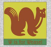 Weasel Animal Alphabet Kids Tee