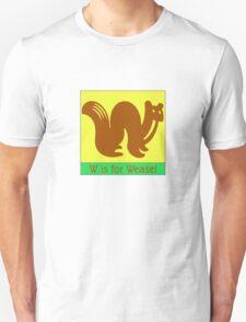 Weasel Animal Alphabet T-Shirt