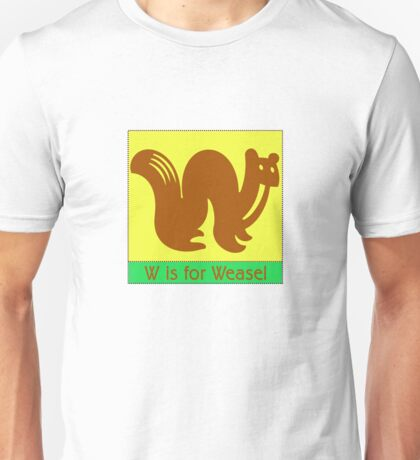Weasel Animal Alphabet Unisex T-Shirt