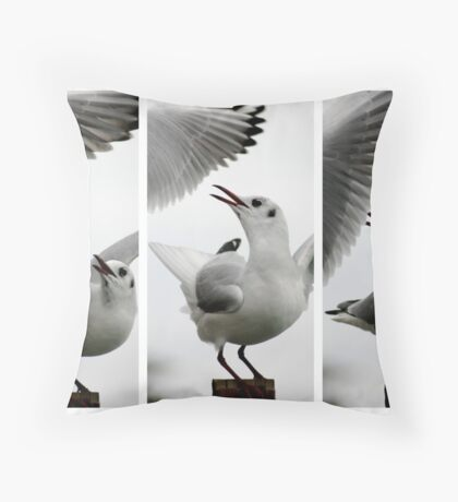 Seagull vs Seagull Throw Pillow