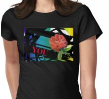 A Refined Modern Look with Sensual Red Roses Womens Fitted T-Shirt