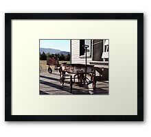 Vintage Toy Wagon and Tractor Framed Print