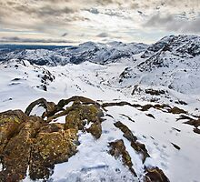 Snowy views over the Langdale valley by Shaun Whiteman