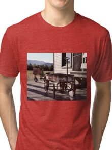 Vintage Toy Wagon and Tractor Tri-blend T-Shirt