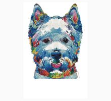 Colorful West Highland Terrier Dog Art Sharon Cummings Kids Clothes