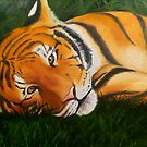Tiger in the Grass by bluebengal