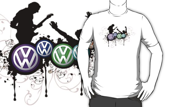 The Guitar Man Funky VW T-Shirt by jay007