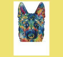 Colorful German Shepherd Dog Art By Sharon Cummings Kids Tee