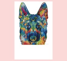 Colorful German Shepherd Dog Art By Sharon Cummings Baby Tee