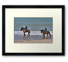 Straô horses in the North Sea Framed Print