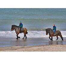 Straô horses in the North Sea Photographic Print