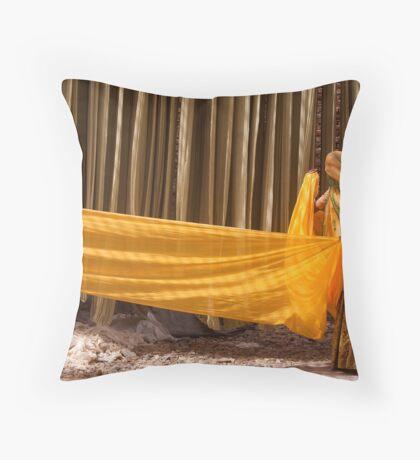 Saris. Rajasthan Throw Pillow