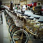 Cycles for Rent in Paris by Rosemary Sobiera
